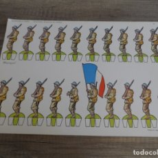 Coleccionismo Recortables: RECORTABLES TORAY INFANTERÍA FRANCESA EN DESFILE. Lote 182955607