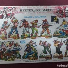 Coleccionismo Recortables: 8 (A-H) RECORTABLES HEROES Y SOLDADOS.... Lote 183216442