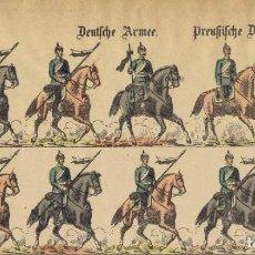Coleccionismo Recortables: ANTIGUO PLIEGO DE SOLDADOS DE WEISSENBURG Nº 286 DEUTSCHE ARMÉE DE C. BURCKARDT'S.. Lote 183858963