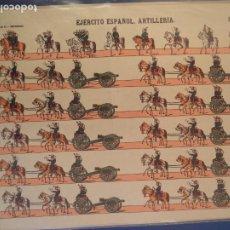 Coleccionismo Recortables: EJERCITO ESPAÑOL ARTILLERIA LIT HIJO DE PALUZIE S EN C Nº 165. Lote 189935143
