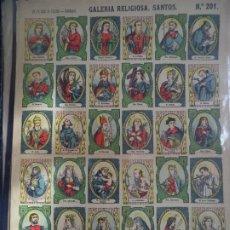 Coleccionismo Recortables: LIT DE HIJOS DE PALUZIE GALERIA RELIGIOSA SANTOS Nº 201. Lote 189936537