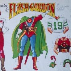 Coleccionismo Recortables: LOS VESTIDOS DE FLASH GORDON Y AURA. RECORTABLES. AÑO 1980.. Lote 190322010