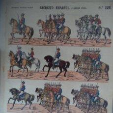 Coleccionismo Recortables: ESTAMPERIA ECONOMICA PALUZIE EJERCITO ESPAÑOL GUARDIA CIVIL Nº 226. Lote 190327041