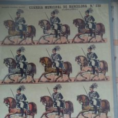 Coleccionismo Recortables: ESTAMPERIA ECONOMICA PALUZIE GUARDIA MUNICIPAL DE BARCELONA CABALERIA Nº 230. Lote 190330200