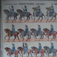 Coleccionismo Recortables: LIT DE HIJOS DE PALUZIE EJERCITO ESPAÑOL CAZADORES Nº 232. Lote 190330448