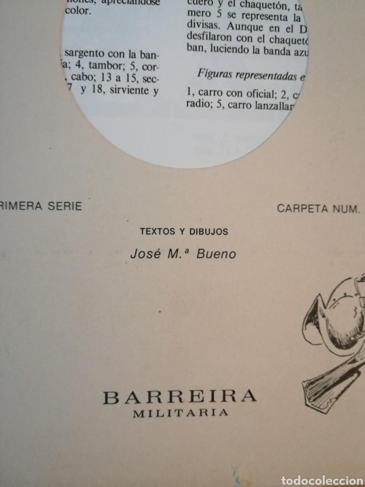 Coleccionismo Recortables: Carpeta recortables el ejercito español en parada, 1era serie n° 4 y 2 laminas extras de regalo - Foto 2 - 190623241