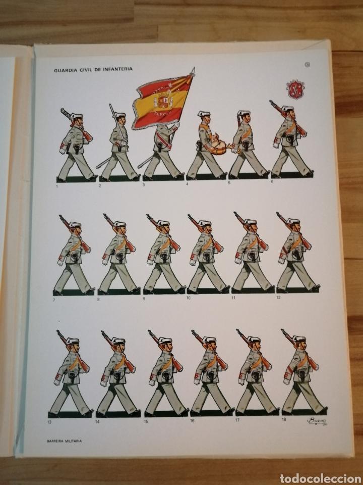 Coleccionismo Recortables: Carpeta recortables el ejercito español en parada, 1era serie n° 4 y 2 laminas extras de regalo - Foto 5 - 190623241