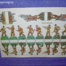 Coleccionismo Recortables: RECORTABLE - INFANTERIA INGLESA -. Lote 190623791