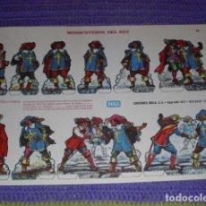Coleccionismo Recortables: RECORTABLES EDICIONES BOGA - MOSQUETEROS DEL REY -. Lote 190624903