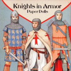 Coleccionismo Recortables: RECORTABLES: PAPER DOLLS BY A.G.SMITH: KNIGHTS IN ARMOR / CABALLEROS MEDIEVALES -DOVER 1995. Lote 191428583