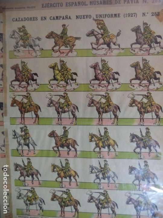ESTAMPERIA ECONOMICA PALUZIE CAZADORES EN CAMPAÑA NUEVO UNIFORME 1927 N º253 (Coleccionismo - Recortables - Soldados)
