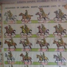 Coleccionismo Recortables: ESTAMPERIA ECONOMICA PALUZIE CAZADORES EN CAMPAÑA NUEVO UNIFORME 1927 N º253. Lote 191698271