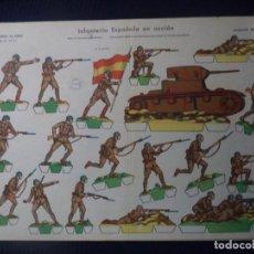 Coleccionismo Recortables: RECORTABLES LA TIJERA SERIE 35 Nº11 INFANTERIA ESPAÑOLA EN ACCION 50X35 CM. Lote 191723521