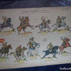 Coleccionismo Recortables: RECORTABLES LA TIJERA SERIE 35 Nº 12 CABALLERIA ESPAÑOLA EN ACCION 50X35 CM. Lote 191729505