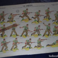 Coleccionismo Recortables: RECORTABLES LA TIJERASERIE 35 Nº 19 LA LEGION 50X35. Lote 191732508