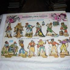 Coleccionismo Recortables: HEROES Y SOLDADOS.COLECCION COMPLETA.LOTE DE 8 LAMINAS DE LA A A LA H.EDICIONES BOGA 1973. Lote 191987122