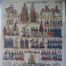 Coleccionismo Recortables: ESTAMPERIA ECONOMICA PALUZIE PROCESION DE CORPUS Nº 378. Lote 192551322