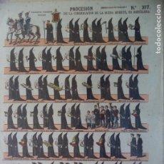 Coleccionismo Recortables: ESTAMPERIA ECONOMICA PALUZIE PROCESION DE LA BUENA MUERTE ENBARCELONA 377. Lote 192551416