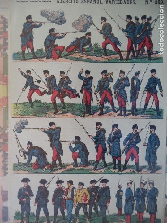 ESTAMPERIA ECONOMICA PALUZIE EJERCITO ESPAÑOL VARIEDADES Nº 369 (Coleccionismo - Recortables - Soldados)
