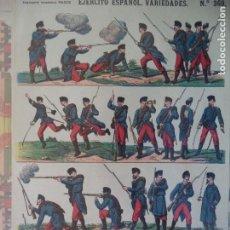 Coleccionismo Recortables: ESTAMPERIA ECONOMICA PALUZIE EJERCITO ESPAÑOL VARIEDADES Nº 369. Lote 192552531