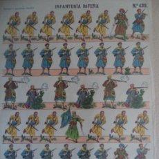 Coleccionismo Recortables: ESTAMPERIA ECONOMICA PALUZIE INFANTERIA RIFEÑA Nº 439. Lote 193565303