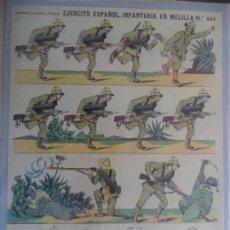 Coleccionismo Recortables: ESTAMPERIA ECONOMICA PALUZIE EJERCITO ESPAÑOL INFANTERIA EN MELILLA º 444. Lote 193565672