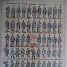 Coleccionismo Recortables: LIT DE HIJOS DE PALUZIE EJERCITO JAPONES INFANTERIA Nº472. Lote 193568921