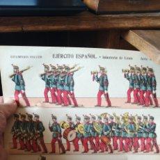 Coleccionismo Recortables: HOJA DE RECORTABLES DEL EJÉRCITO ESPAÑOL, INFANTERÍA LÍNEA PALUZIE. Lote 193706348
