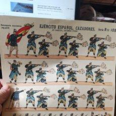 Coleccionismo Recortables: PLIEGO DE RECORTABLES PALUZIE EJÉRCITO ESPAÑOL CAZADORES. Lote 193706515