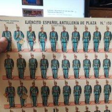 Coleccionismo Recortables: ABRIGO DE RECORTABLES PALUZIE EJÉRCITO ESPAÑOL ARTILLERÍA DE PLAZA. Lote 193706771