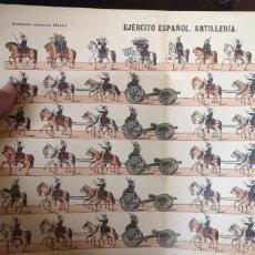 Coleccionismo Recortables: PLIEGO RECORTABLES PALUZIE EJÉRCITO ESPAÑOL ARTILLERÍA. Lote 193706948