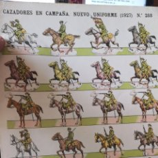 Coleccionismo Recortables: PLIEGO RECORTABLES PALUZIE, CAZADORES EN CAMPAÑA UNIFORME 1927. Lote 193707562