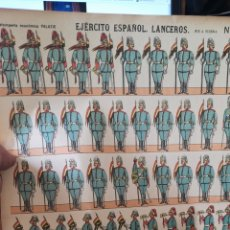 Coleccionismo Recortables: PLIEGO RÉCORD TABLETS PARA LUCÍA EJÉRCITO ESPAÑOL REPÚBLICA LANCEROS. Lote 193707656