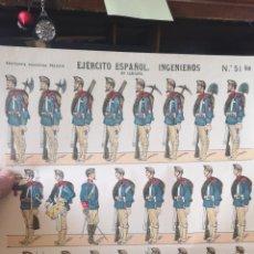 Coleccionismo Recortables: DIEGO RECORTABLES PALUZIE EJÉRCITO ESPAÑOL INGENIEROS. Lote 193708022