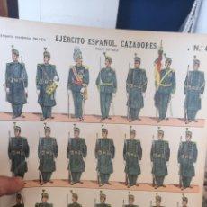 Coleccionismo Recortables: PLIEGO RECORTABLES PALUZIE, CAZADORES EJÉRCITO ESPAÑOL GALA. Lote 193708391
