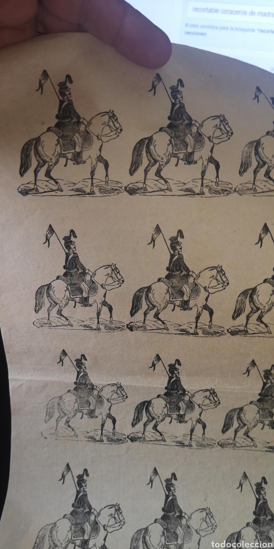 Coleccionismo Recortables: Antiguo griego de soldados de caballería húsares - Foto 2 - 193911722