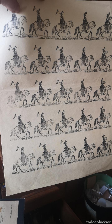ANTIGUO GRIEGO DE SOLDADOS DE CABALLERÍA HÚSARES (Coleccionismo - Recortables - Soldados)