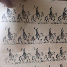 Coleccionismo Recortables: ANTIGUO GRIEGO DE SOLDADOS DE CABALLERÍA HÚSARES. Lote 193911722
