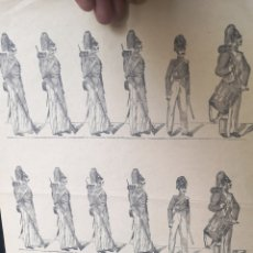 Coleccionismo Recortables: ANTIGUO PLIEGO DE RECORTABLES SOLDADOS DE INFANTERÍA. Lote 193911876