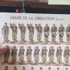 Coleccionismo Recortables: ANTIGUOS RECORTABLES SEGUNDA GUERRA MUNDIAL ARMADA DE LA LIBERACIÓN FRANCIA. Lote 193912147