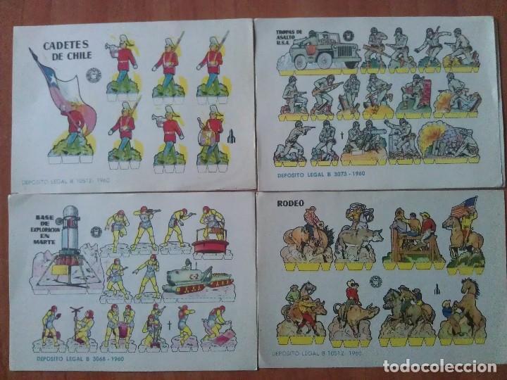 10 RECORTABLES - BRUGUERA (Coleccionismo - Recortables - Soldados)