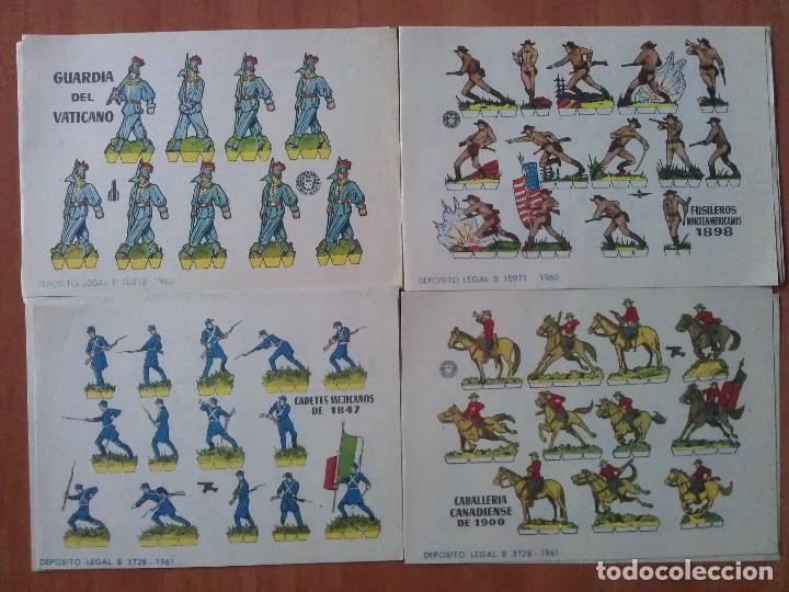 10 RECORTABLES MILITARES - BRUGUERA - DIVERSOS (Coleccionismo - Recortables - Soldados)