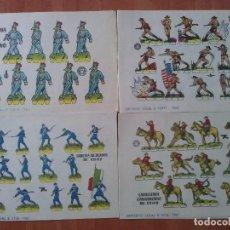 Coleccionismo Recortables: 10 RECORTABLES MILITARES - BRUGUERA - DIVERSOS. Lote 194280932
