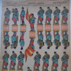 Coleccionismo Recortables: EDICIONES LA TIJERA SERIE 10 INFANTERIA ESPAÑOLA Nº 1 SOLDADOS RECORTABLES Y MONTABLES. Lote 194507791