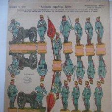 Coleccionismo Recortables: EDICIONES LA TIJERA SERIE 10 Nº 3 ARTILLERIA ESPAÑOLA,LIGERA Nº 3 SOLDADOS RECORTABLES Y MONTABLES. Lote 194511018