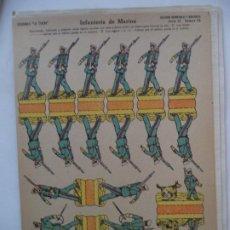 Coleccionismo Recortables: LA TIJERA SERIE 10 INFANTERIA DE MARINA Nº 45 SOLDADOS RECORTABLES Y MONTABLES(LOS MAS ANTIGUOS). Lote 194514456