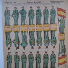 Collezionismo Figurine da Ritagliare: LA TIJERA SERIE 10 MARINOS DE GUERRA Nº 14 SOLDADOS RECORTABLES Y MONTABLES. Lote 194515490