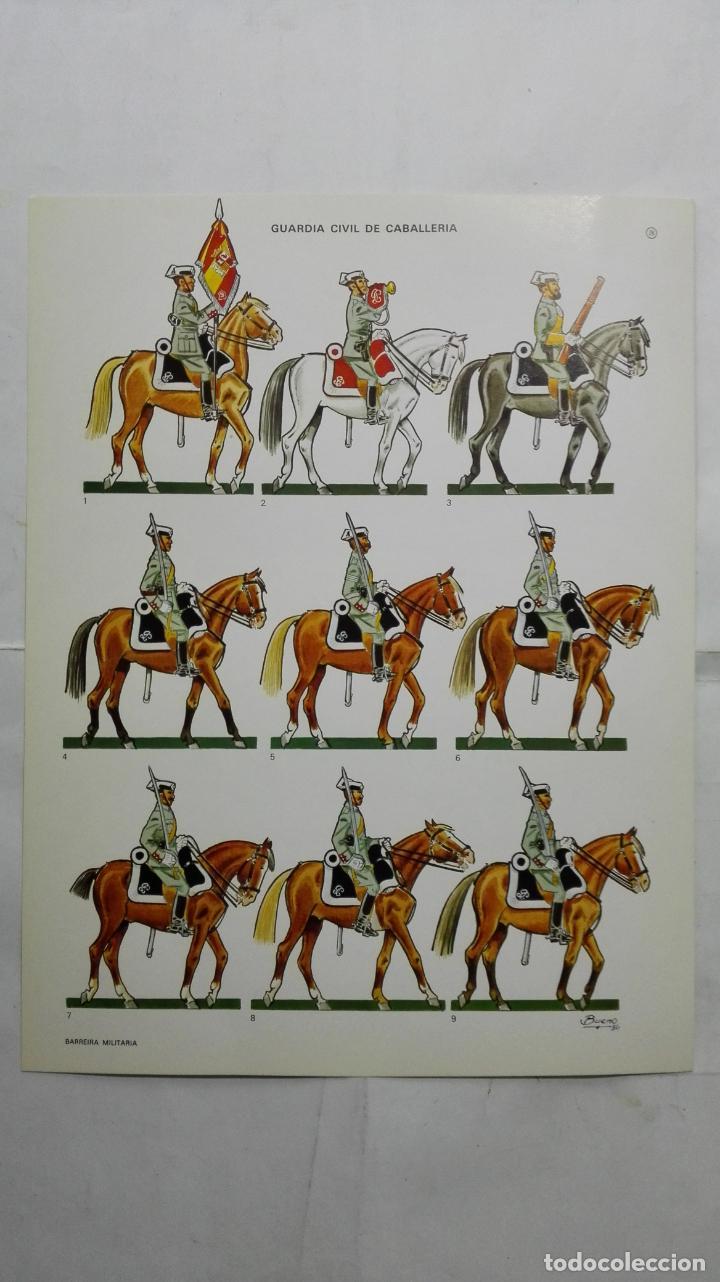 RECORTABLES, GUARDIA CIVIL DE CABALLERIA - BARREIRA MILITARIA, Nº 26 (Coleccionismo - Recortables - Soldados)