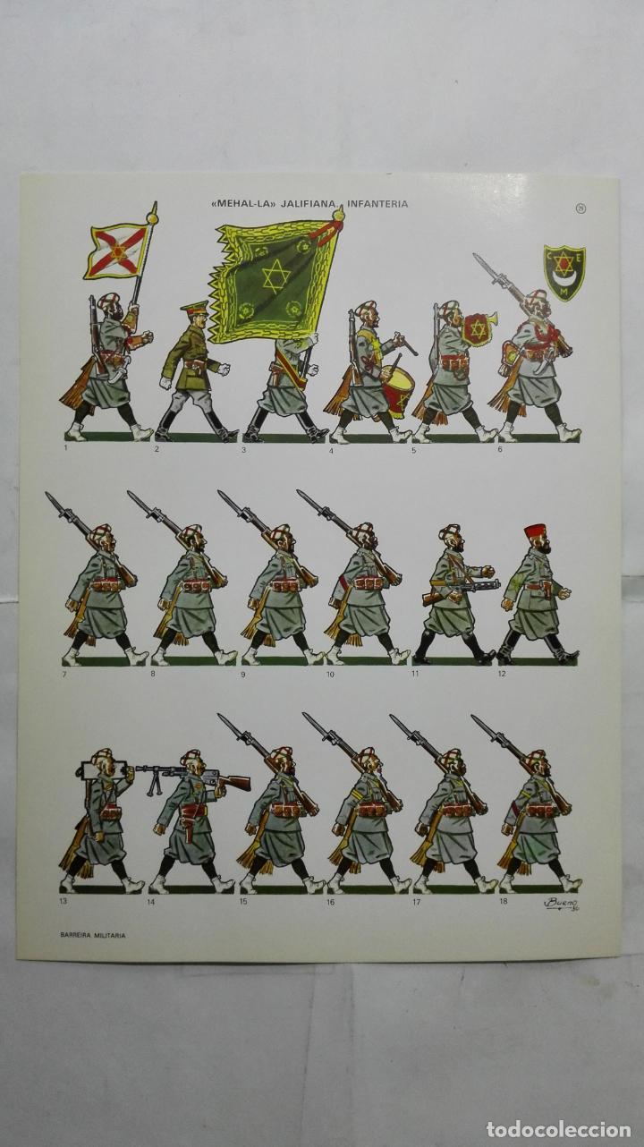 RECORTABLES, MEHAL-LA - JALIFIANA, INFANTERIA - BARREIRA MILITARIA, Nº 29 (Coleccionismo - Recortables - Soldados)