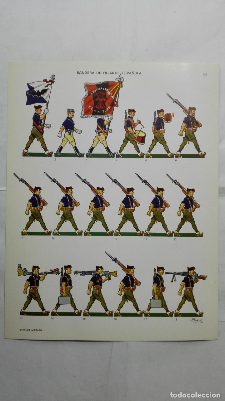 RECORTABLES, BANDERA DE FALANGE ESPAÑOLA - BARREIRA MILITARIA, Nº 30 (Coleccionismo - Recortables - Soldados)